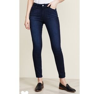 PAIGE Hoxton Ankle Skinny Jeans in Luella Wash